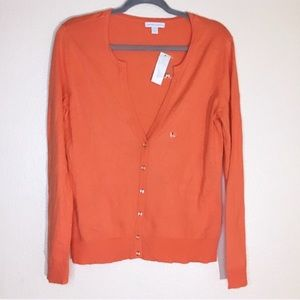*NWT coral New York & Co Cardigan - Size L